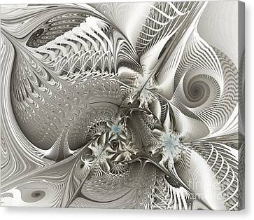 Utopia-fractal Art Canvas Print by Karin Kuhlmann