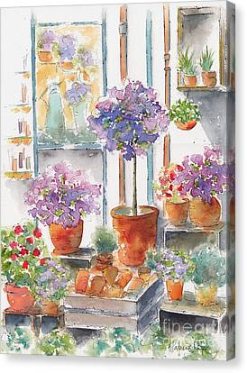 Uzes Market Canvas Print by Pat Katz