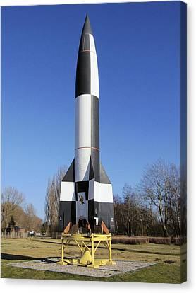 V-2 Rocket Display, Peenemunde, Germany Canvas Print by Science Photo Library
