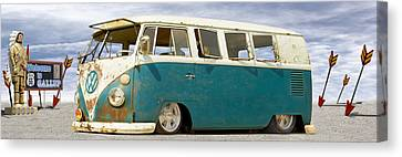 V W Lowrider At Gallop Canvas Print by Mike McGlothlen