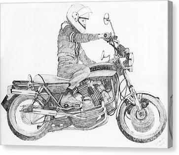 V8 Kawasaki Canvas Print by Stephen Brooks