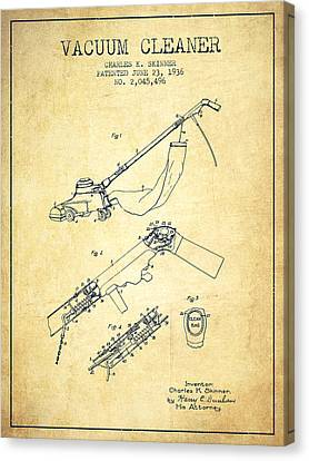 Vacuum Cleaner Patent From 1936 - Vintage Canvas Print by Aged Pixel