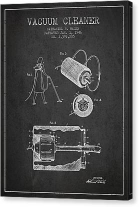 Vacuum Cleaner Patent From 1946 - Charcoal Canvas Print by Aged Pixel