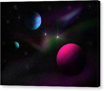 Vacuum Of Space Canvas Print by Ricky Haug
