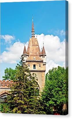 Vajdahunyad Castle In Varosliget (city Canvas Print by Miva Stock