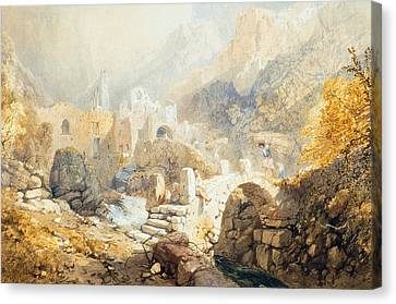 Val Di Ferriera Canvas Print by James Baker Pyne