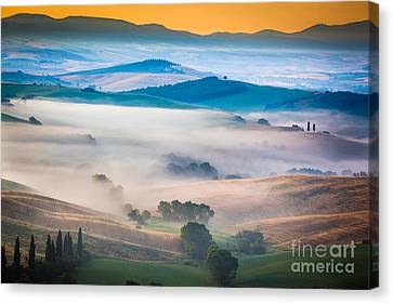 Val D'orcia Enchantment Canvas Print by Inge Johnsson