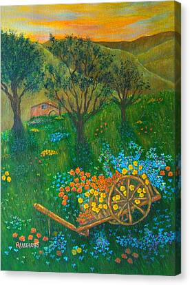 Val D'orcia Canvas Print by Pamela Allegretto
