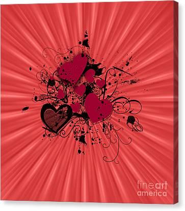 Valentine Day Illustration Canvas Print by Darren Fisher