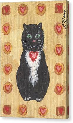 Valentine Kitty Two Canvas Print by Linda Mears