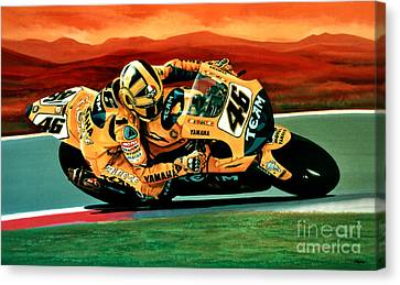 Valentino Rossi The Doctor Canvas Print by Paul Meijering