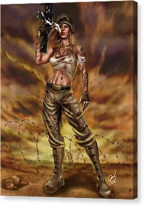 Valkyrie One Canvas Print by Pete Tapang