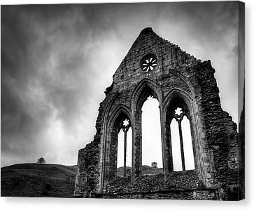 Valle Crucis Abbey Canvas Print by Dave Bowman