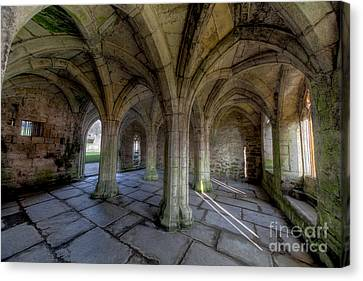 Valle Crucis Chapter House  Canvas Print by Adrian Evans