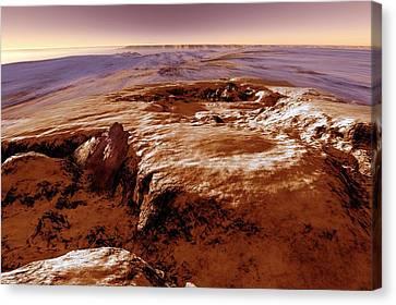 Valles Marineris Canvas Print by Detlev Van Ravenswaay