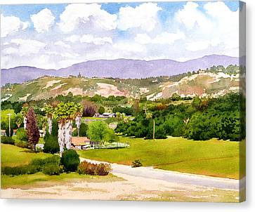 Valley Center California Canvas Print by Mary Helmreich