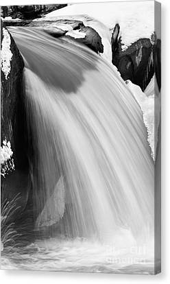 Valley Falls D30009153_bw Canvas Print by Kevin Funk