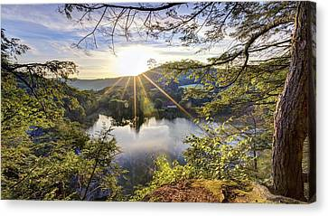 Valley Sunrise Canvas Print by Bill Wakeley