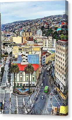 Valparaiso A Color Palette City Canvas Print by Kesavan Venugopal