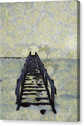 Van Gogh's Starry Walk Canvas Print by Dan Sproul