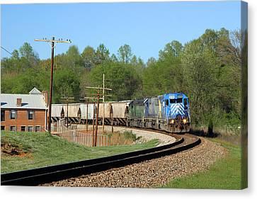 Van Wyck Grain Train Canvas Print by Joseph C Hinson Photography