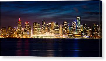 Vancouver At Christmas Canvas Print by Alexis Birkill