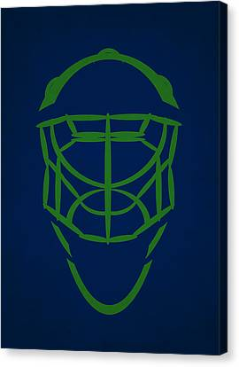 Vancouver Canucks Goalie Mask Canvas Print by Joe Hamilton