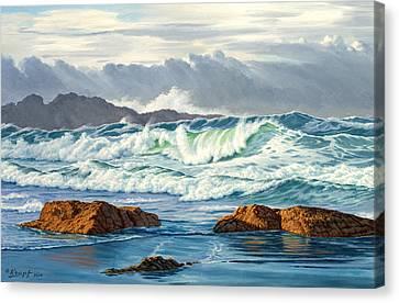 Vancouver Island Surf Canvas Print by Paul Krapf