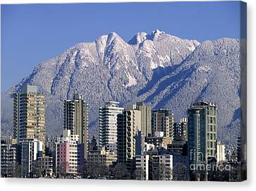 Vancouver Skyline West End Canvas Print by Kevin Miller