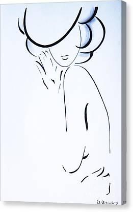 Vanessa Canvas Print by Anna Androsovski