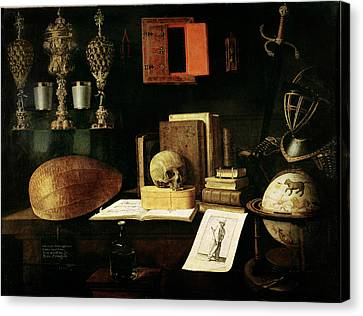 Vanitas Still Life, 1641 Oil On Canvas Canvas Print by Sebastian Stoskopff