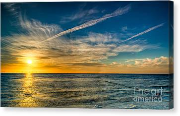 Vapor Trail Canvas Print by Adrian Evans