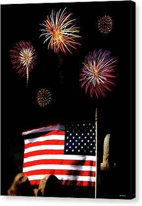 Variations On Old Glory No. 2 Canvas Print by John Pagliuca