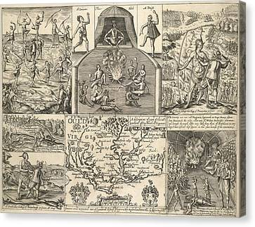 Various Scenes In Virginia Canvas Print by British Library