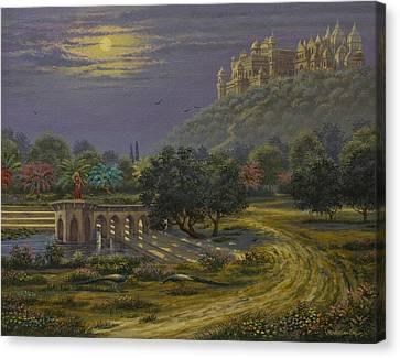 Varsana. Abode Of Radharani Canvas Print by Vrindavan Das