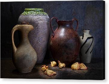Vases And Urns Still Life Canvas Print by Tom Mc Nemar