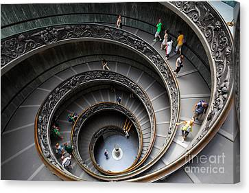 Vatican Spiral Staircase Canvas Print by Inge Johnsson