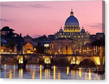 Vatican Twilight Canvas Print by Brian Jannsen