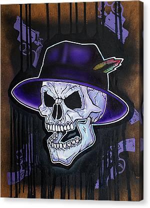 Vato Skull Canvas Print by Jon Jochens