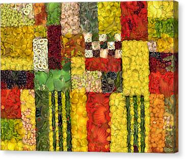 Vegetable Abstract Canvas Print by Michelle Calkins
