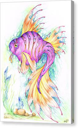 Veiltail Fairy Fish Canvas Print by Heather Bradley