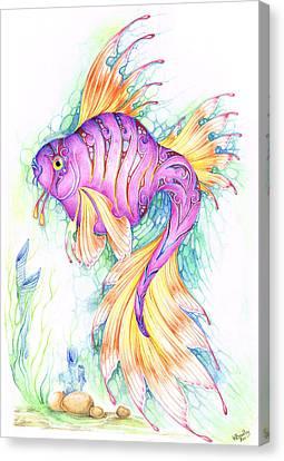 Veiltail Fairy Fish Canvas Print by Heather Bradley