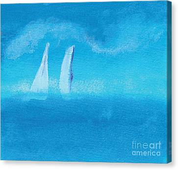 Veleros En Rancho Luna Sails At Luna Ranch Canvas Print by Chary Castro-Marin