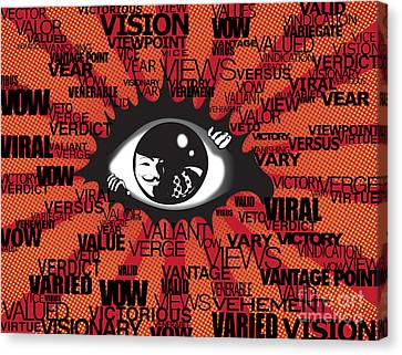 Vendetta Typography Canvas Print by Sassan Filsoof