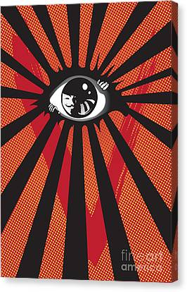 Vendetta2 Eyeball Canvas Print by Sassan Filsoof
