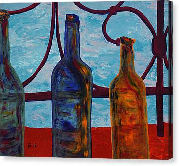 Venetian Bottles  Canvas Print by Oscar Penalber