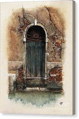 Venetian Door 01 Elena Yakubovich Canvas Print by Elena Yakubovich