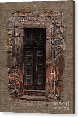 Venetian Door 02 Elena Yakubovich Canvas Print by Elena Yakubovich