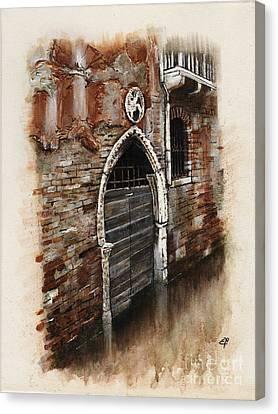 Venetian Door 03 Elena Yakubovich Canvas Print by Elena Yakubovich