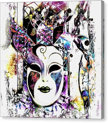 Venetian Mask Canvas Print by Barbara Chichester